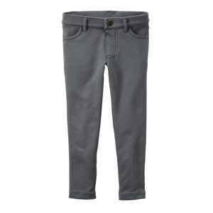Carter's gray French terry jeggings size 5